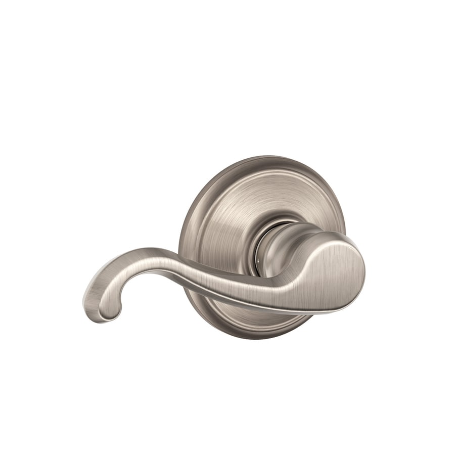 Schlage F Callington Satin Nickel Passage Door Lever