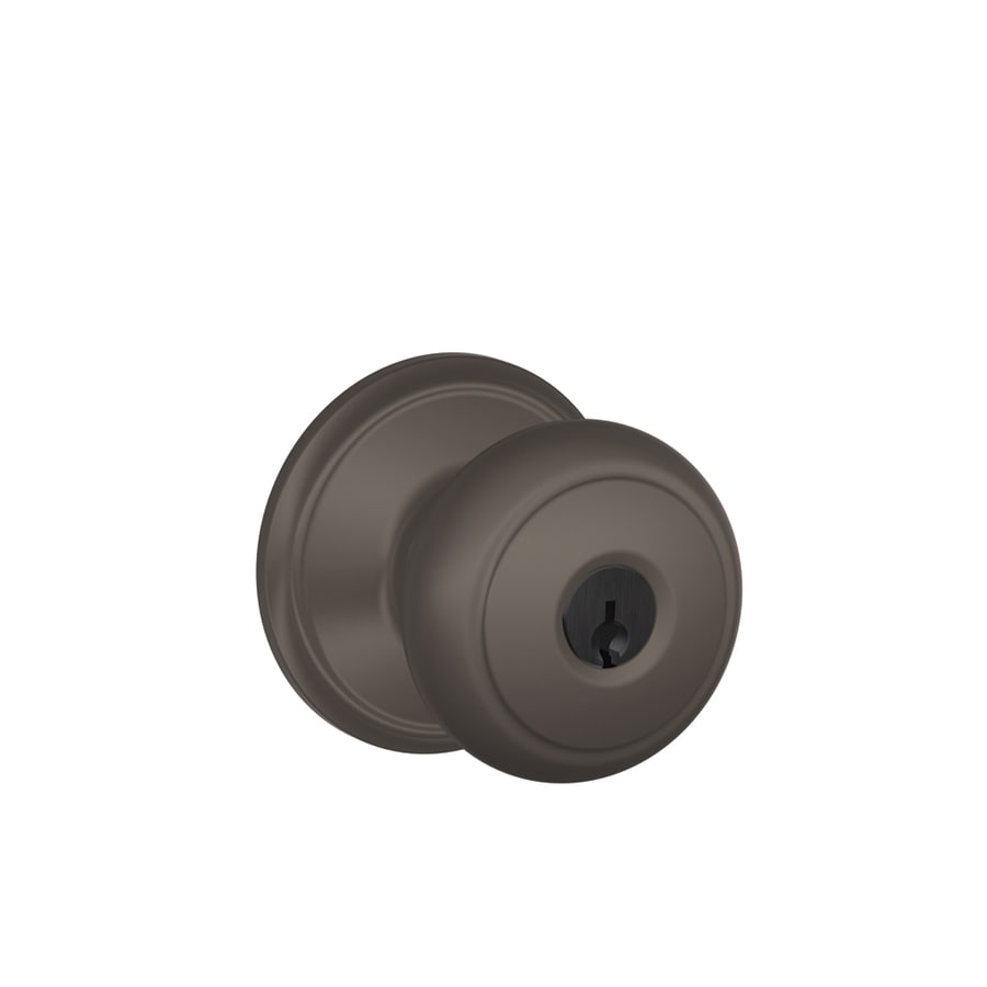 Schlage F Andover Traditional Oil-Rubbed Bronze Round Keyed Entry Door Knob
