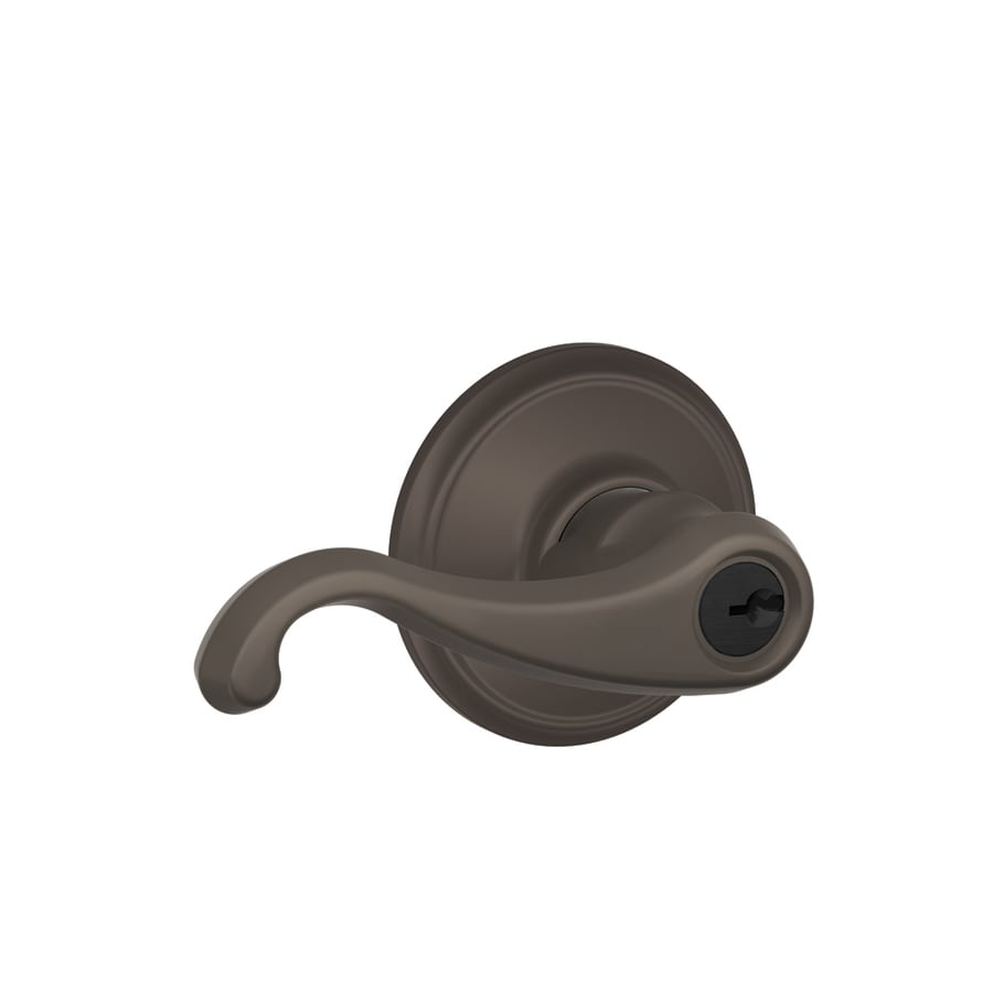 Schlage F Callington Oil-Rubbed Bronze Keyed Entry Door Lever