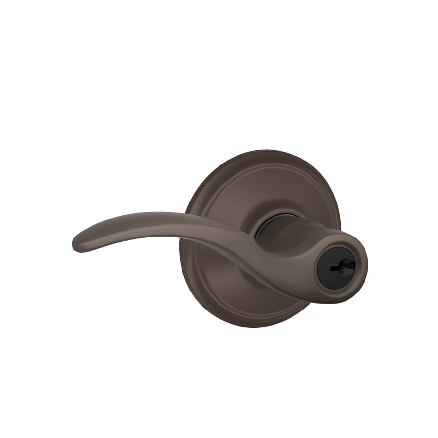 Schlage F St. Annes Oil-Rubbed Bronze Keyed Entry Door Lever