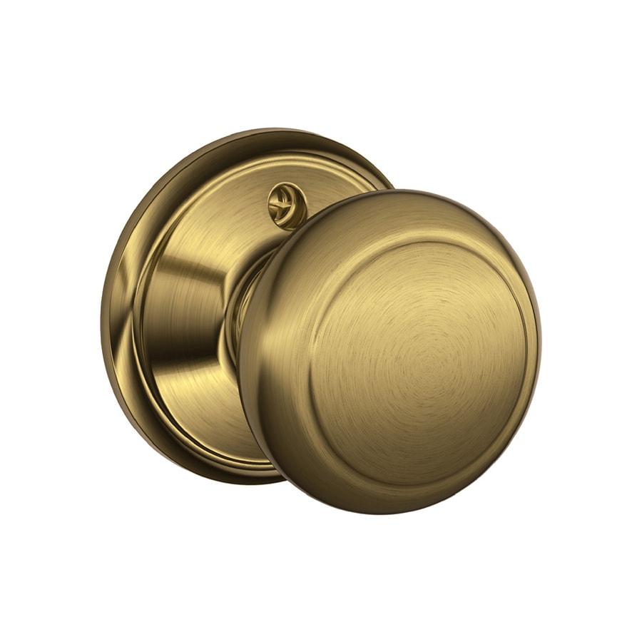 Schlage F Andover Antique Brass Dummy Door Knob