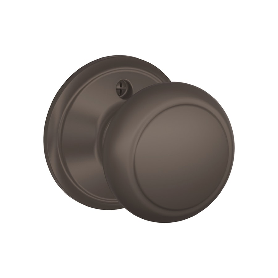Schlage F Andover Oil-Rubbed Bronze Dummy Door Knob
