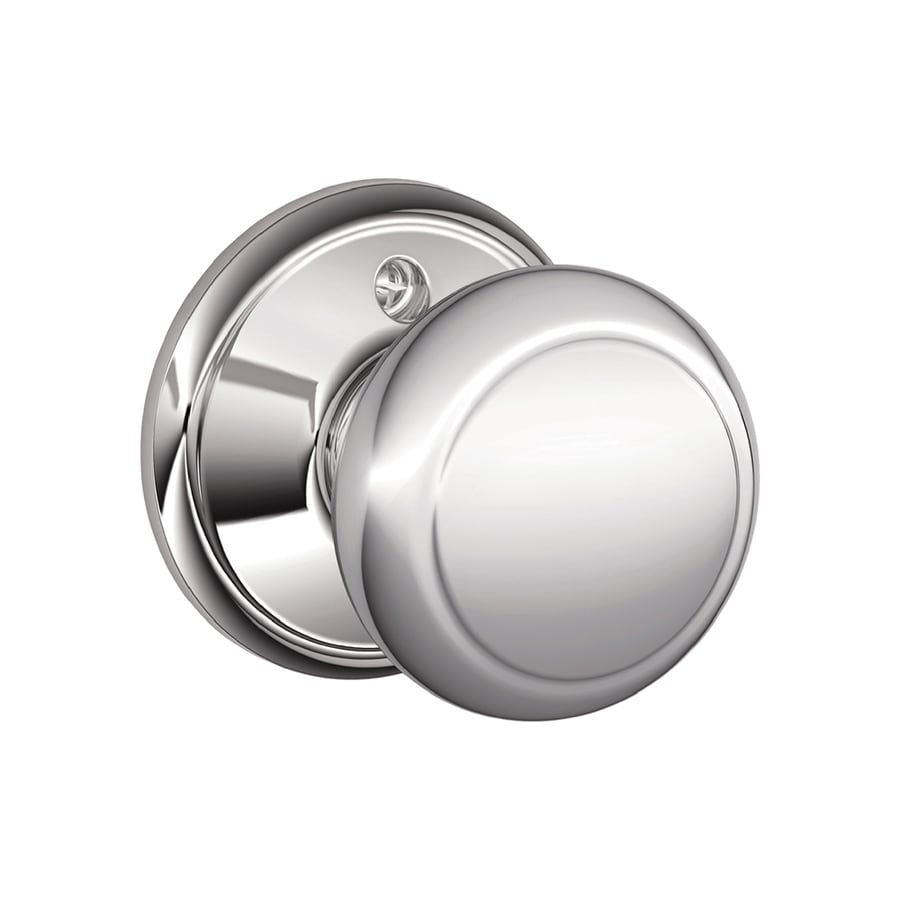 Schlage F Andover Bright Chrome Dummy Door Knob