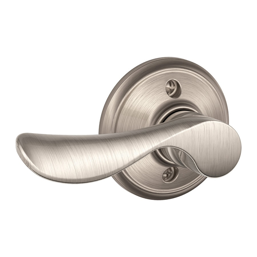 Shop Schlage F Champagne Satin Nickel Dummy Door Handle At