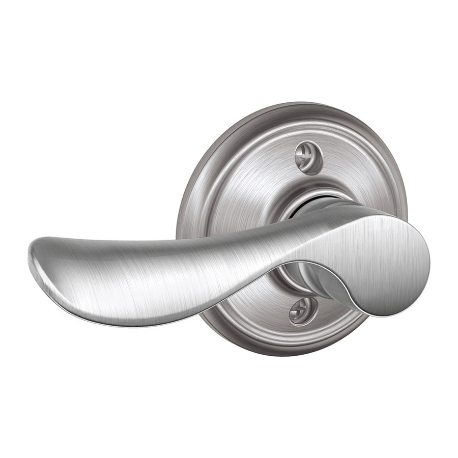Schlage F Champagne Satin Chrome Left-Handed Dummy Door Lever
