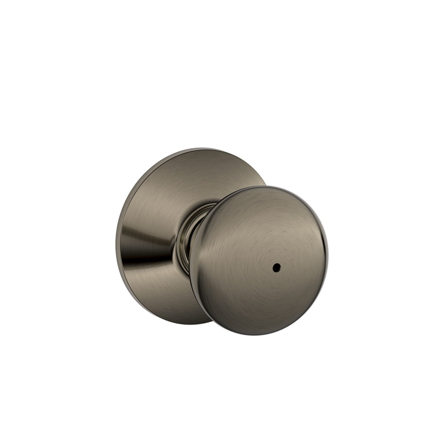 Shop Schlage F Plymouth Antique Pewter Round Push Button