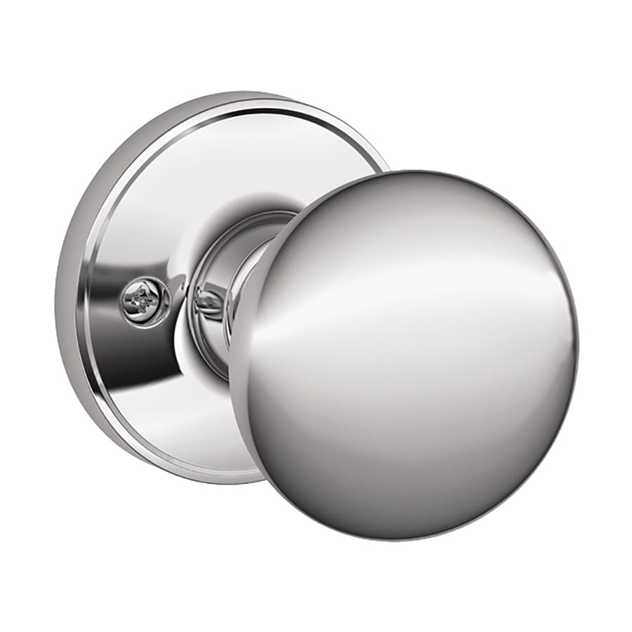 Schlage Stratus Bright Chrome Dummy Door Knob
