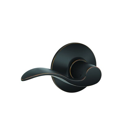 Schlage F10 Accent Accent Aged Bronze Reversible Passage Door Handle by Lowe's
