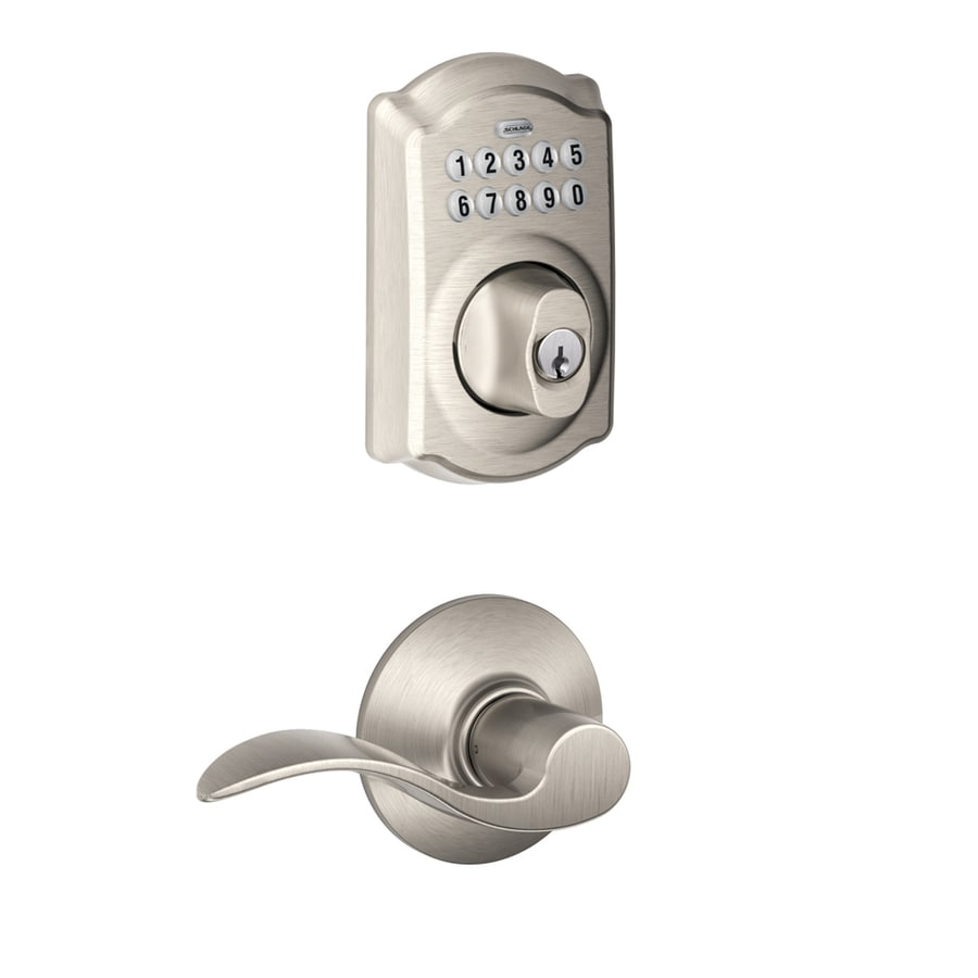 Shop Schlage Camelot Traditional Satin Nickel Single