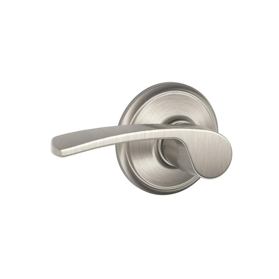 Shop Schlage F Merano Satin Nickel Passage Door Lever At
