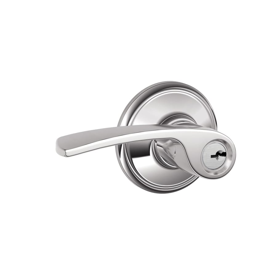 Schlage F Merano Bright Chrome Universal Keyed Entry Door Lever