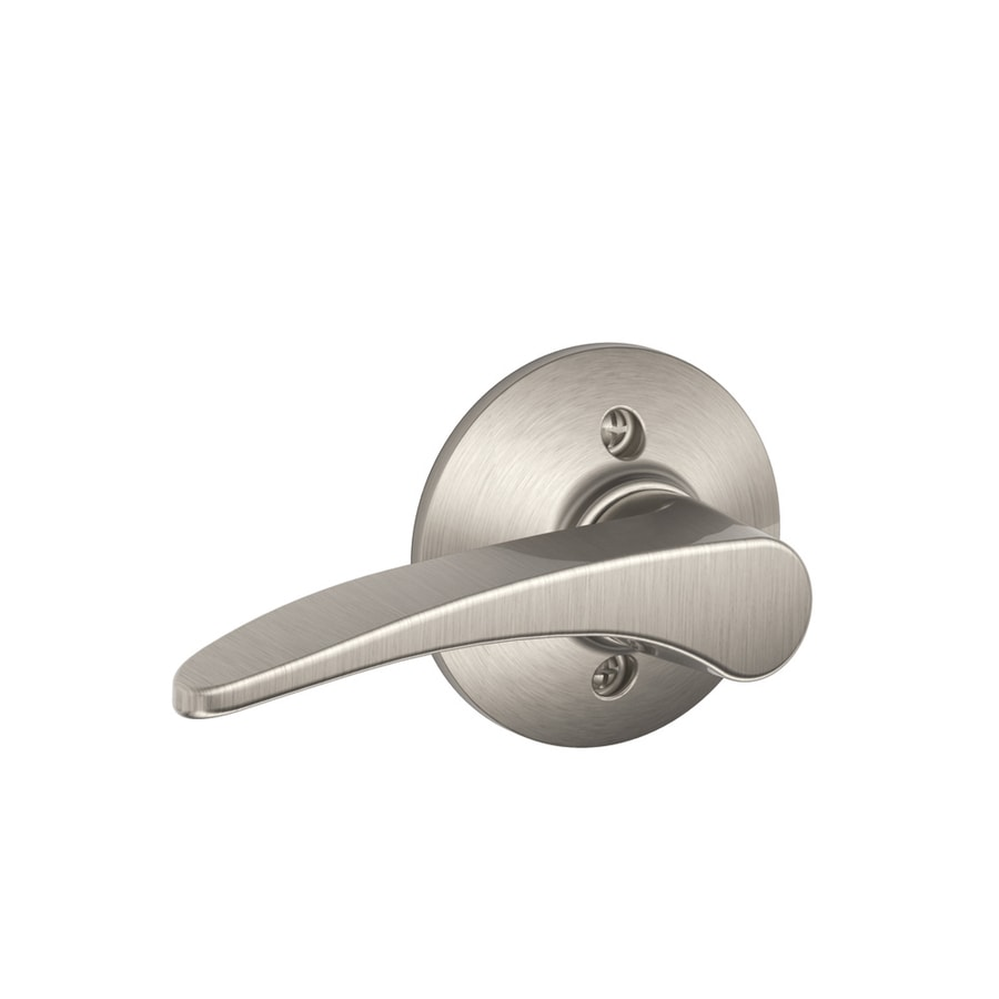 Schlage F Manhattan Satin Nickel Left-Handed Dummy Door Lever