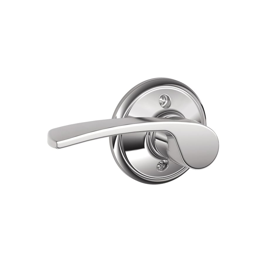 Schlage F Merano Bright Chrome Left-Handed Dummy Door Lever