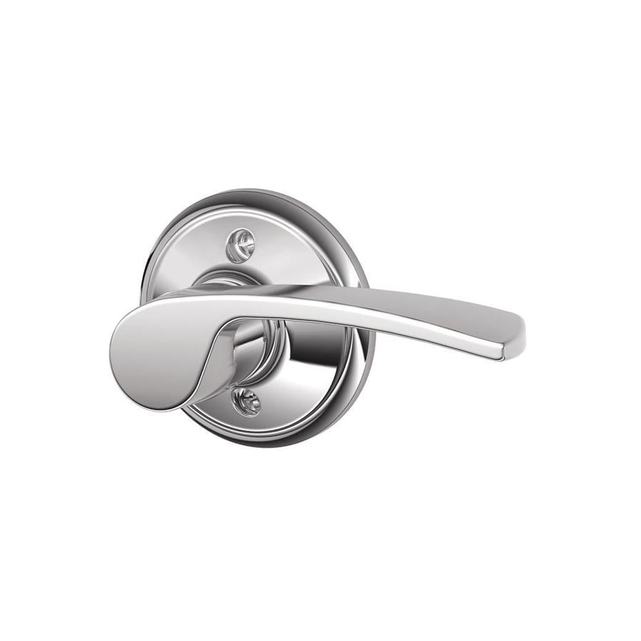 Schlage F Merano Bright Chrome Right-Handed Dummy Door Lever