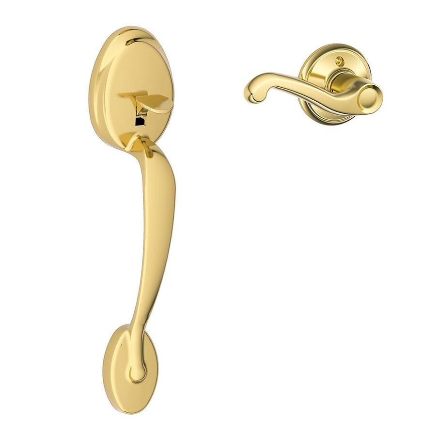 Shop Schlage Plymouth Lifetime Bright Brass Residential