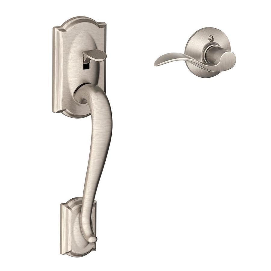 Mobile Home Replacement Doors Exterior: Shop Schlage Camelot Satin Nickel Residential Entry Door