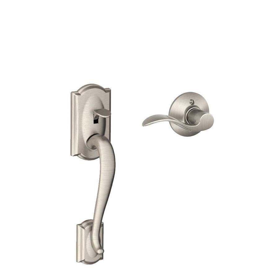 shop schlage camelot satin nickel residential entry door replacement