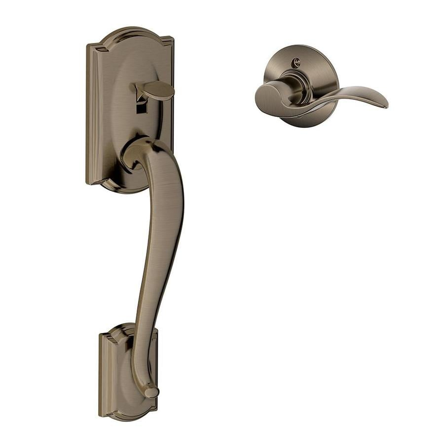 Schlage Camelot Antique Pewter Residential Entry Door Replacement Handleset - Shop Schlage Camelot Antique Pewter Residential Entry Door