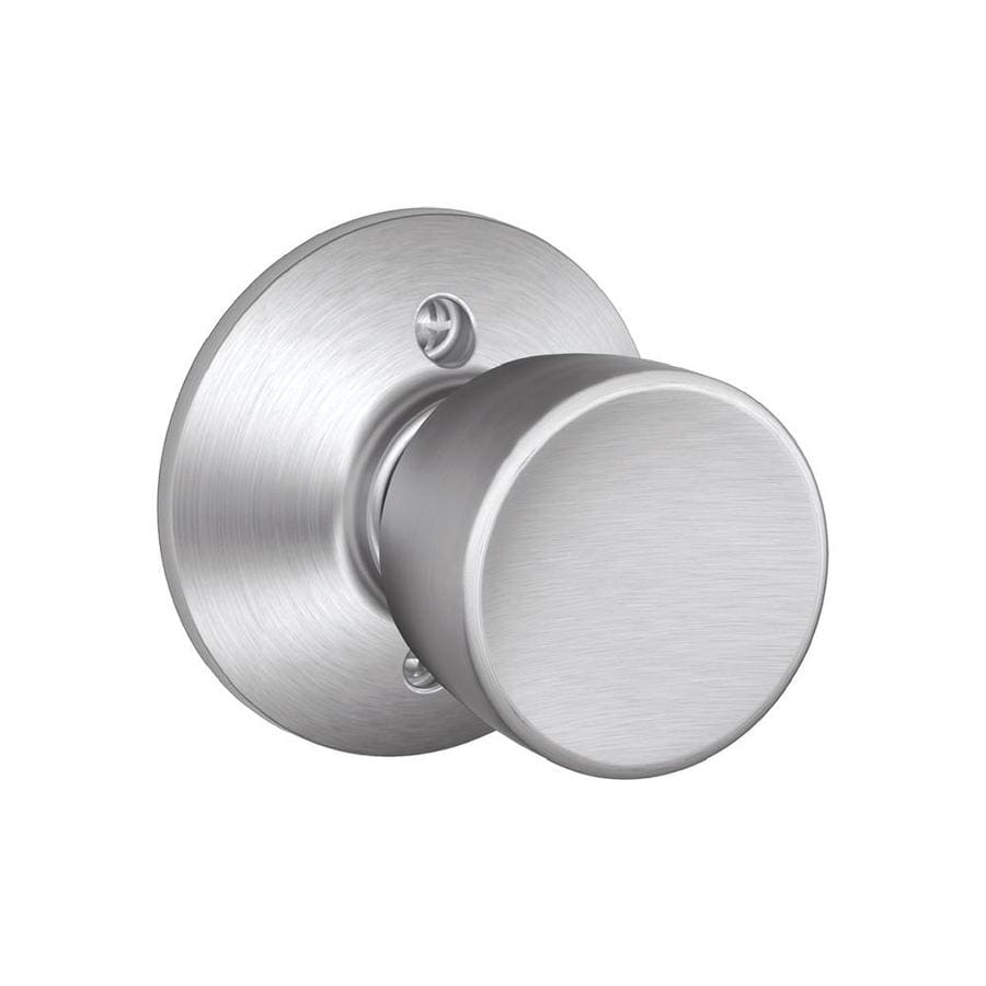 Schlage F Bell Satin Chrome Dummy Door Knob