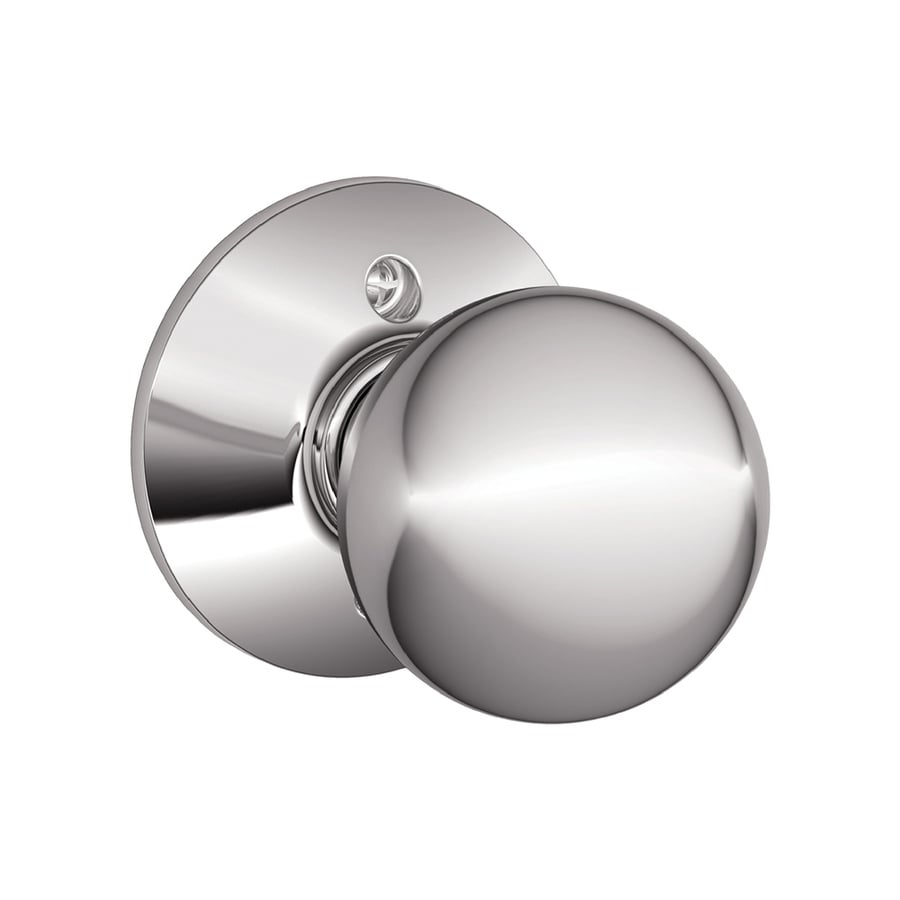 Schlage F Orbit Bright Chrome Dummy Door Knob