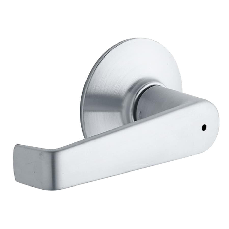 Schlage Privacy Elan Satin ChromePush-Button Lock Privacy Door Lever