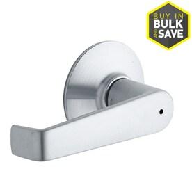 Schlage Privacy Elan Satin Chrome Push Button Lock Privacy Door Lever