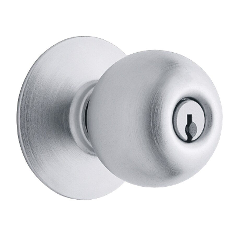 Schlage Orbit Satin Chrome Keyed Entry Door Knob