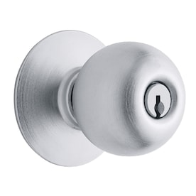 Schlage F80 Orbit Orbit Satin Chrome Keyed Entry Door Knob