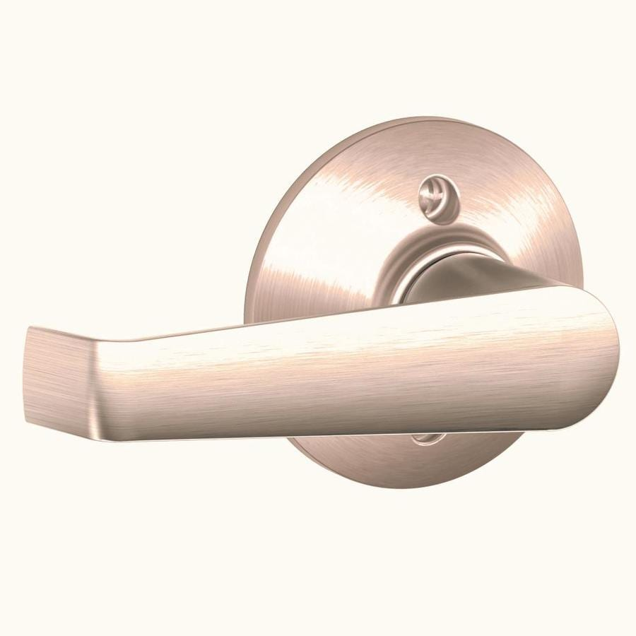 Shop Schlage F Elan Satin Chrome Dummy Door Handle At