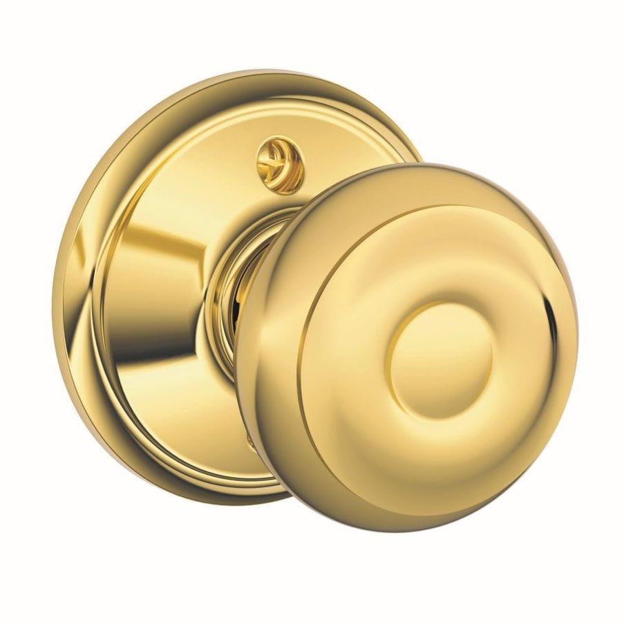 Schlage Georgian Bright Brass Dummy Door Knob