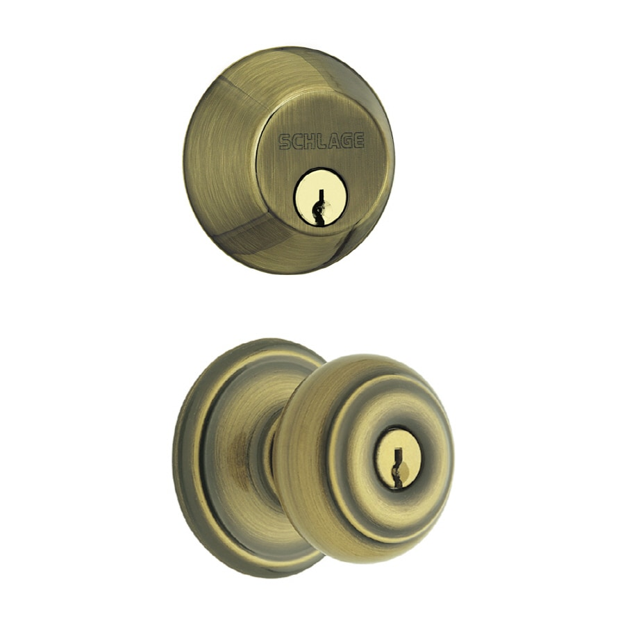 Shop schlage keyed entry door knob at for Exterior door knobs