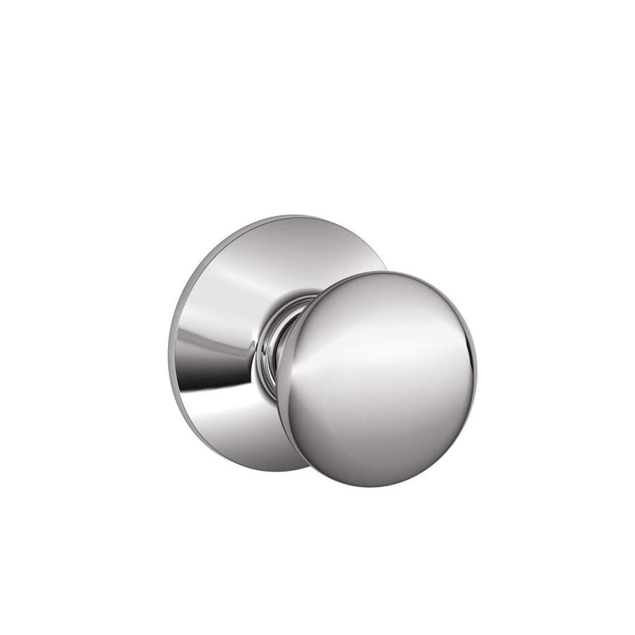Schlage Plymouth Bright Chrome Round Passage Door Knob