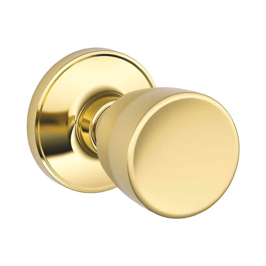 Shop Schlage Byron Bright Brass Tulip Passage Door Knob At