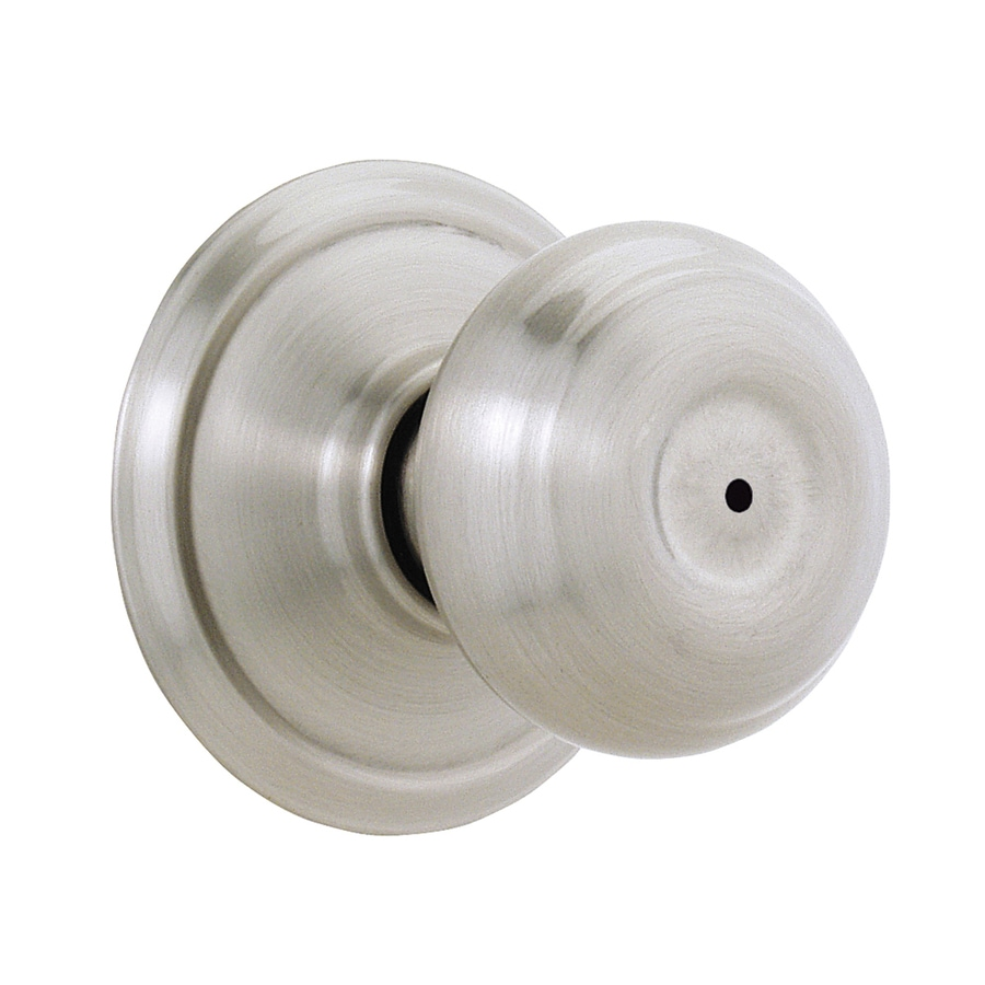 Shop Schlage F40 Georgian Satin Nickel Privacy Door Knob