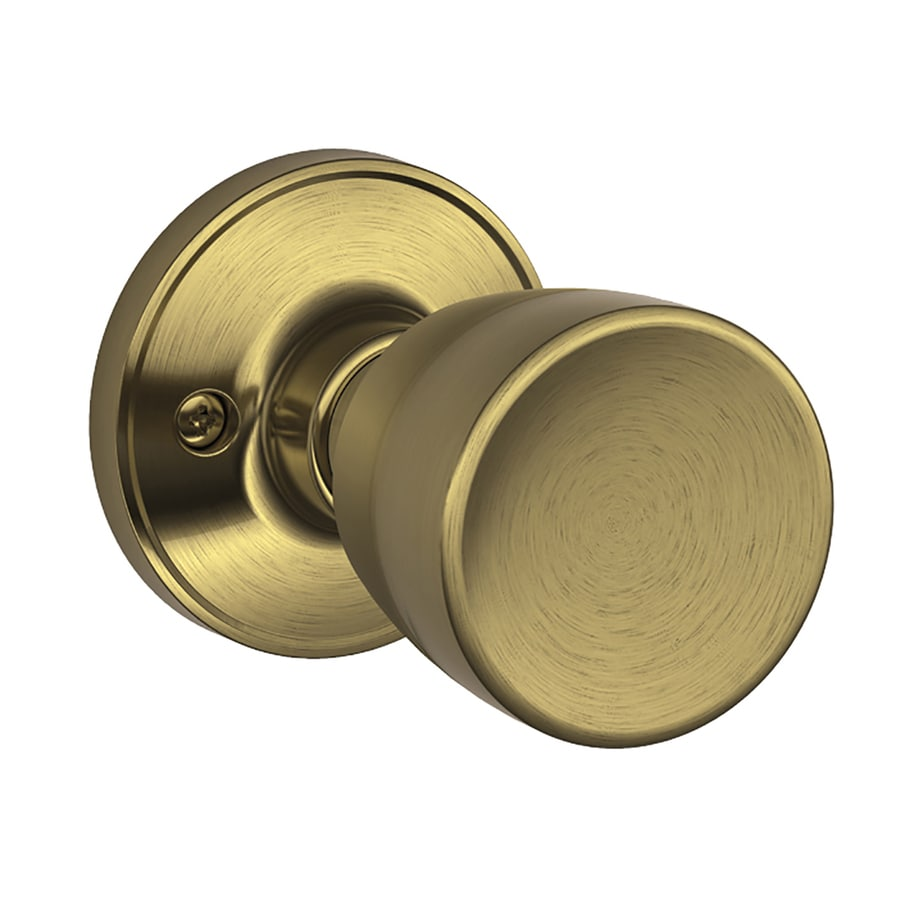 Schlage Byron Antique Brass Dummy Door Knob