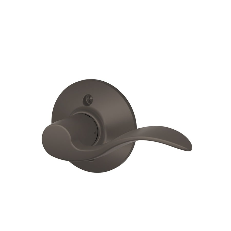 Schlage F Accent Oil-Rubbed Bronze Right-Handed Dummy Door Lever