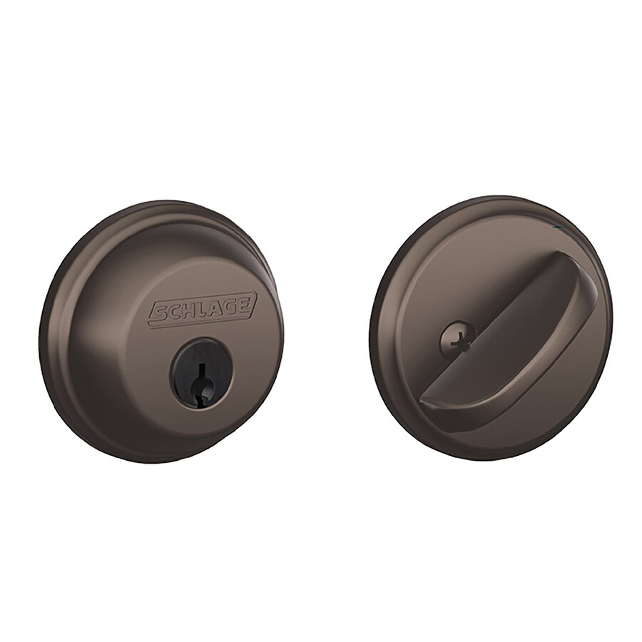 Schlage B Oil-Rubbed Bronze Single-Cylinder Deadbolt