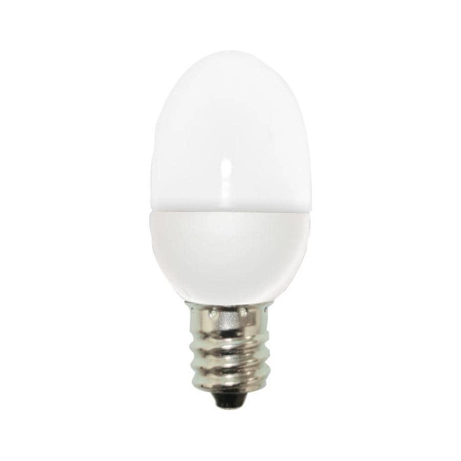 GE 2-Pack 4 W Equivalent Soft White C7 LED Night Light Light Bulb