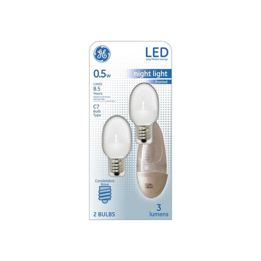 GE 2-Pack 7 W Equivalent Soft White C7 LED Night Light Light Bulb
