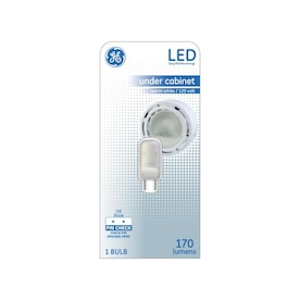 GE 20-Watt EQ 3-in T4 Warm White Under Cabinet Light Bulb