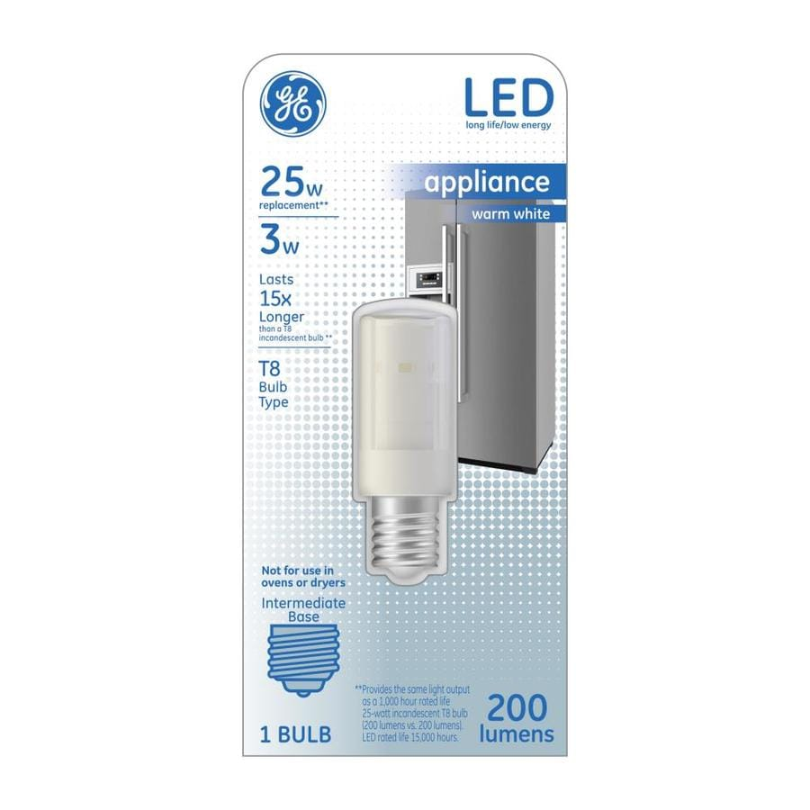 shop ge 25 w equivalent warm white t8 led appliance light bulb at. Black Bedroom Furniture Sets. Home Design Ideas