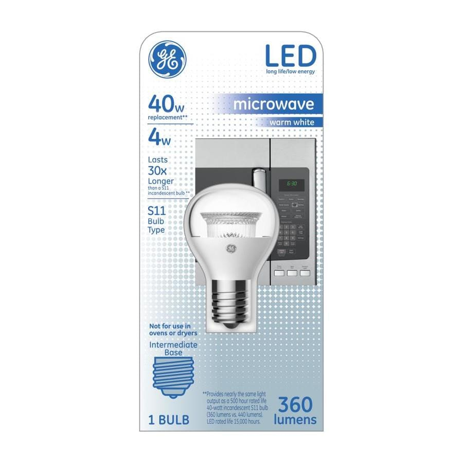 GE 40 W Equivalent Warm White S11 LED Appliance Light Bulb