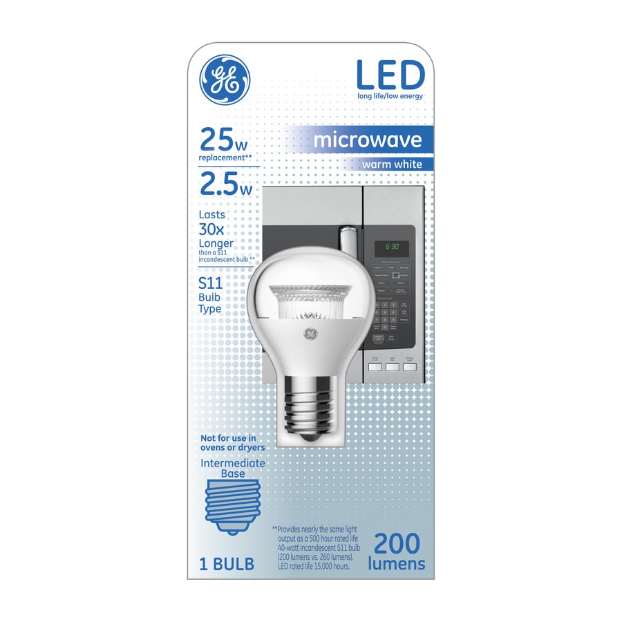 GE 25 W Equivalent Warm White S14 LED Appliance Light Bulb