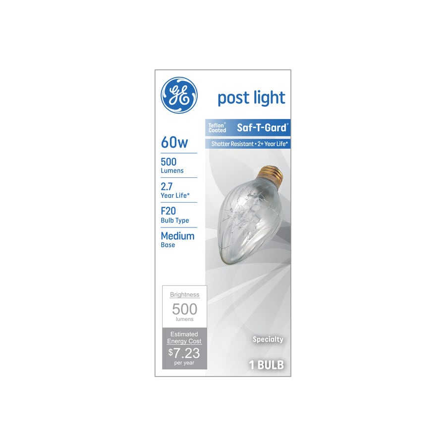 GE 60 Watt Indoor Dimmable Soft White F Incandescent Rough Service Light Bulb
