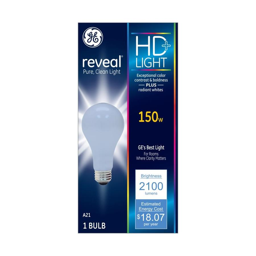 Shop Ge Reveal 150 Watt Indoor Dimmable Color Enhancing A19 Incandescent Decorative Light Bulb