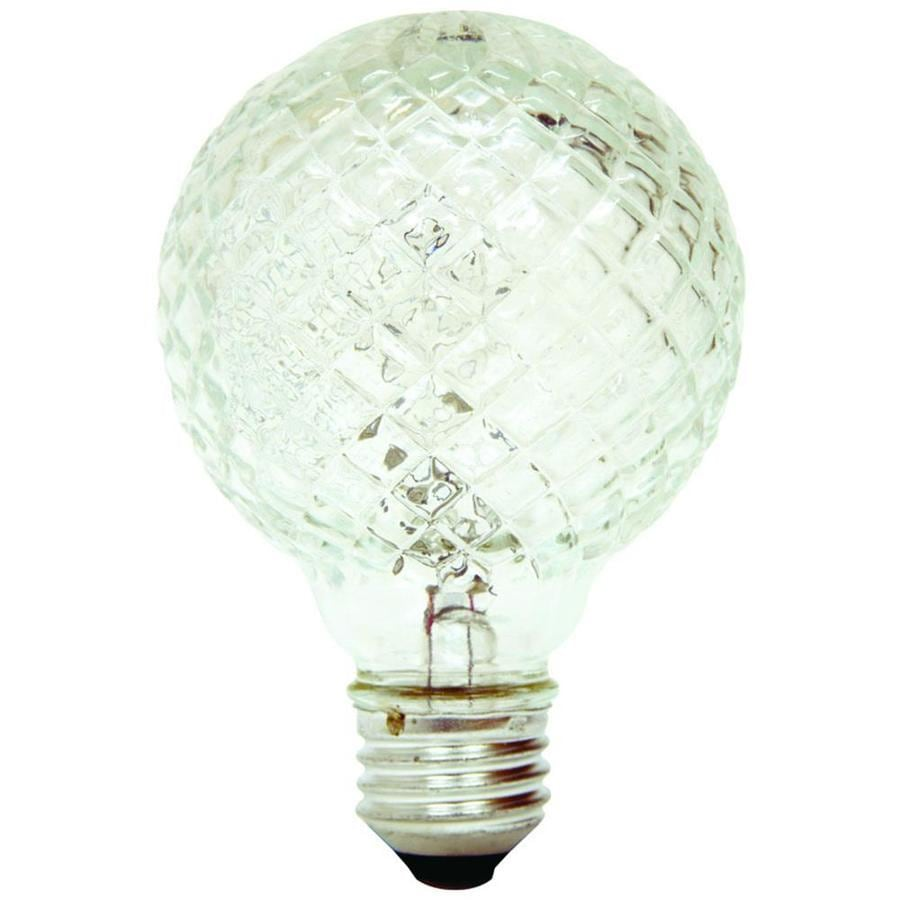 40 Watt Halogen Light Bulbs: GE 40-Watt EQ Dimmable Bright White Globe Decorative