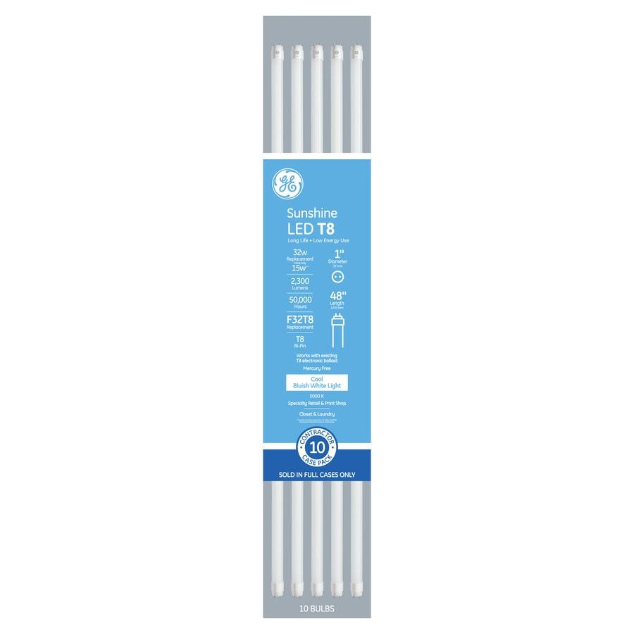 GE 32-Watt EQ 48-in Daylight Linear LED Tube Light Bulb