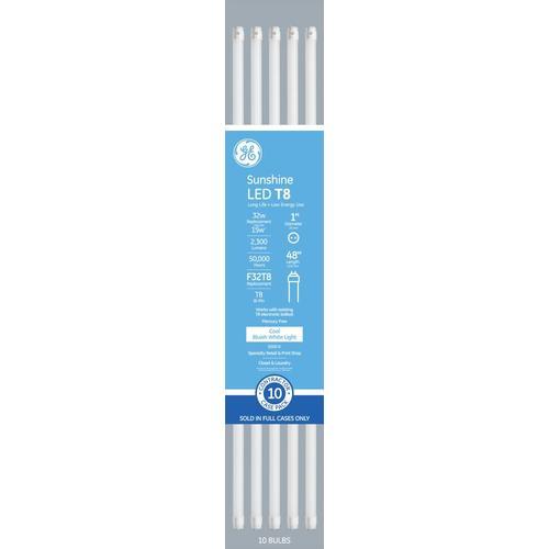 Ge 32 Watt Eq 48 In Daylight Linear Led Tube Light Bulb