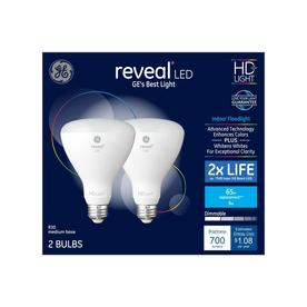 Ge Reveal 65 Watt Eq Led Br30 Color Enhancing Dimmable Spotlight Light Bulb