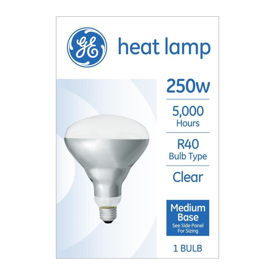280c77849703 GE 250-Watt Dimmable R40 Heat Lamp Incandescent Light Bulb at Lowes.com